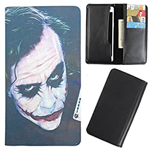DooDa - For iBall Andi 5K Panther PU Leather Designer Fashionable Fancy Case Cover Pouch With Card & Cash Slots & Smooth Inner Velvet
