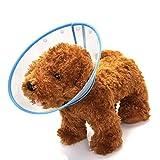 Mogoko Haustier Hund Halsbänder aus Kunststoff Bunte Punkte Halskrause Schutzkragen Kegel Krägen Besondere Schutz für Hunden (S(Halsumfang:15-19cm), Blau)