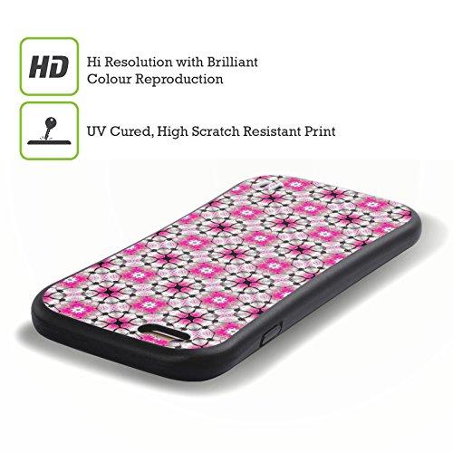 Ufficiale WondrousCre8tions Margherita Porpora Collezione Floreale Geometrica Case Ibrida per Apple iPhone 7 Plus / 8 Plus Bocciolo Fucsia