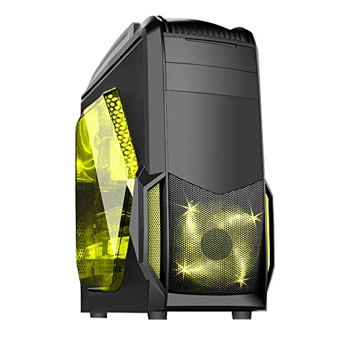 Fierce PC Fierce Medusa Spectre Fast Powerful Intel Core i7 4790 4GHz Quad Core Gaming Gamer Desktop PC Computer (Nvidia GTX 1050 Ti 4GB Graphics Card, 8GB RAM, 1TB Hard Drive (Sandstorm Red - 295089)