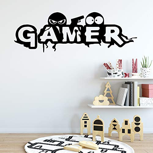 Personalisierte Gamer Home Decor Wandaufkleber Kinderzimmer Dekor Wandkunst Aufkleber Rot L 43cm X 131cm