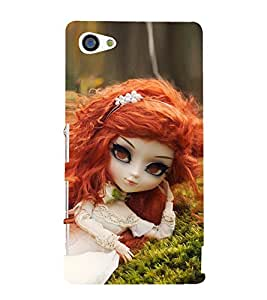 Baby Doll With Orange Hair 3D Hard Polycarbonate Designer Back Case Cover for Sony Xperia Z5 Compact :: Sony Xperia Z5 Mini