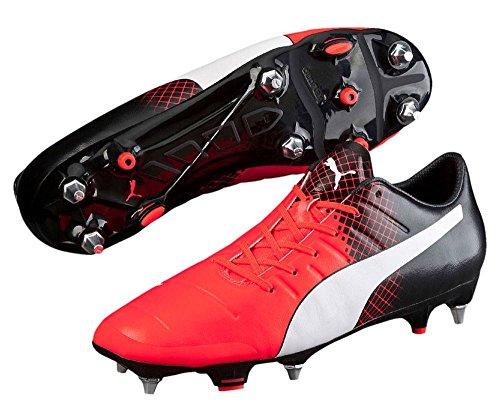 Puma Evopower 1.3 Tricks Ag Herren Fußballschuhe Red Blast-Puma White-Puma Black