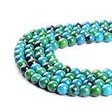 Crisocolla perle in pietra naturale con pietra rotonda sciolto perline 38,1cm Strand 4681012mm gioielli fai da te, 12 mm
