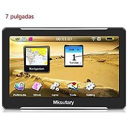 """Mksutary GPS de Coche, Navigation Pantalla 7"""" Navegador GPS para coche de Mapa de Europa Toda la Vida"""