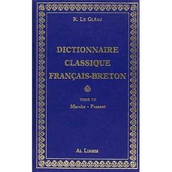 Dictionnaire classique Français - Breton, Tome VII