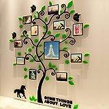 HYRL Árbol Genealógico Pared 3D Acrílico Estéreo Etiqueta De La Pared Planta Foto Árbol De La Pared - Apto para Sala De Estar, Dormitorio, Habitación Infantil, Decoración Mural