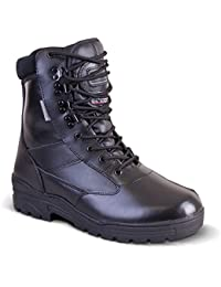 Mens Full Leather Combat Military Black Army Patrol Hiking Cadet Work High Leather Boot All Sizes UK 3 - 13