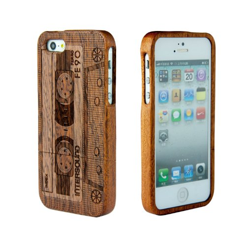 Handmade Bamboo Cassette CAse for iPhone 5/5S