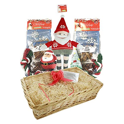 YoL Christmas set MYO gift hamper kit 2 pet stockings 5 toys 4 treats dog puppy xmas gifts set gift tags christmas party xmas party festive fun pet food pet treats dog treats dog toys squeaker