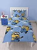 Offizielles Despicable Me Minions Single/Bettbezug Bettwäsche-Set Kinder Betten Set Kinder Jungen Mädchen, Bello, Einzelbett