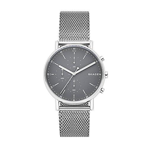 Skagen Herren Chronograph Quarz Uhr mit Edelstahl Armband SKW6464