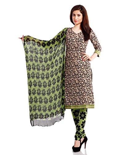 Pinkshink Womens Cotton Unstitched Salwar Suit Dress Material (Psk37 _Green _Free Size)