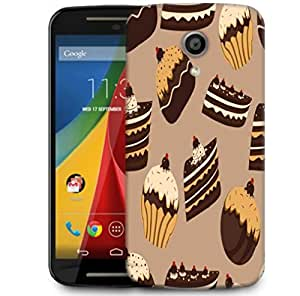 Snoogg Abstract Cakes Pattern Designer Protective Phone Back Case Cover For Motorola G 2nd Genration / Moto G 2nd Gen
