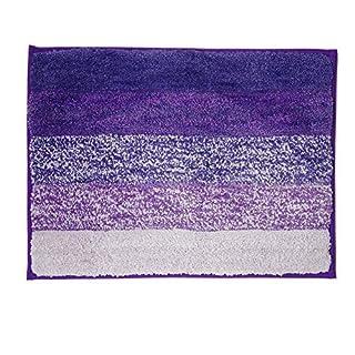 Anti-Rutsch-Microfaser Badematte Duschteppich Super Soft für Badezimmer Schlafzimmer Küche 50 * 80cm, Lila