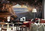 Papier peint mural - La Grotte Stalactites La Glace Des Roches Eau - Thème Plage et littoral - XXL - 416cm x 290cm (LxH) - 4 Parts - Imprimé sur 130g/m2 papier intissé EasyInstall - 1X-55629VEXXXXL