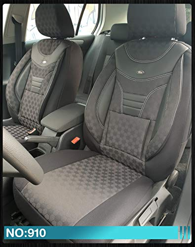 Maß Sitzbezüge Ford Focus 1 Fahrer & Beifahrer ab BJ 1998-2004 Farbnummer: 910 - Sitzbezug 1998 Ford