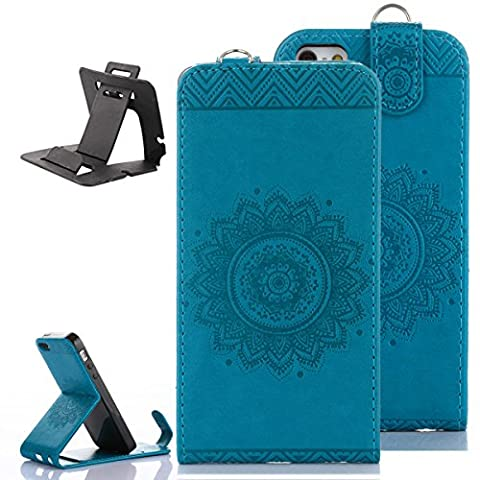 iPhone 5 / 5S / SE Coque portefeuille en cuir