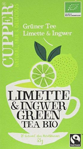 Ingwer Grüner Tee (Cupper Grüner Tee Limette&Ingwer, 4er Pack (4 x 35 g))