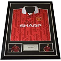 Sportagraphs Bryan Robson SIGNED FRAMED Shirt Photo Autograph Manchester United Football COA PERFECT GIFT