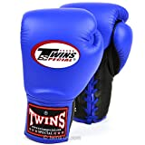 Twins special Blue Muay Thai Lace-up Competition Boxing Gloves - BGLL-1