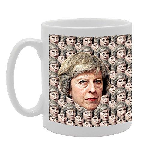 Mg3894Ennuyeux de Toraigh Investir Premier ministre Theresa May fantaisie Cadeau Imprimé Thé café Mug en céramique