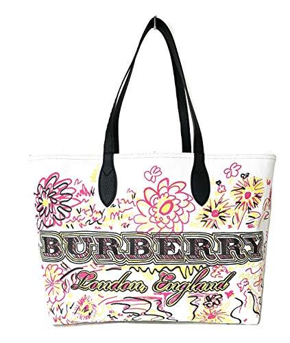 BURBERRY Schultertasche Damen Tasche Umhängetasche Bag Weiß