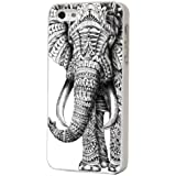 iPhone 5 5S Case cover Hard Gloss H�lle / Aztec Ornate Indian Elephant Cool Funky Fashion Trend Design Case Cover