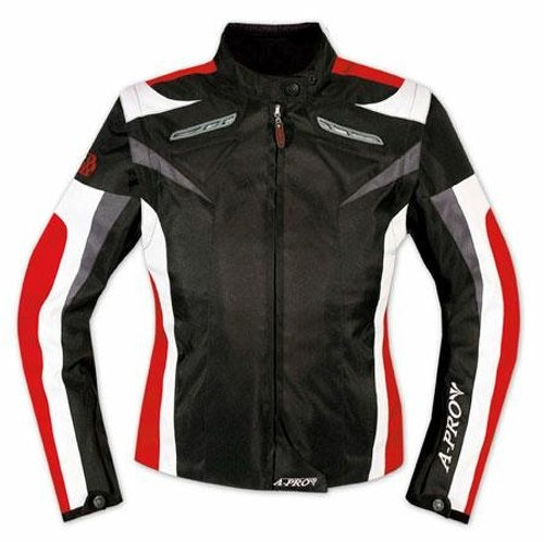 *A-pro Ladies Textile Jacket sport Racing CE Armour Thermal Vents Motorcycle Red M*