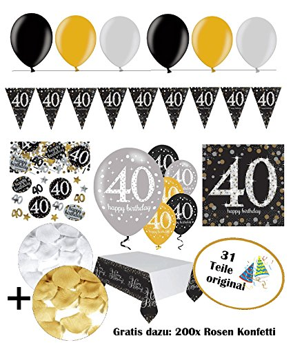 Tischdeko Partyset 30 Luftballons Verkehrschild Geburtstag Dekoset