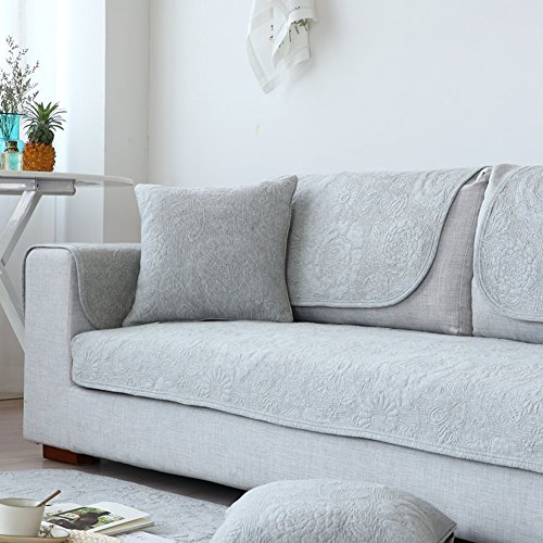 Lililili Baumwolle Sofa Cover, Nordischen Stil Rutschfeste Sofa Kissen Schonbezug, Staubdicht Abdeckung Tuch Couch Verschleißfeste Abdeckung Tuch Für Sofa-Möbel - Baumwolle Gesteppte Kissen-abdeckungen