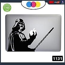 Adhesivo Dath Vader Star Wars–Pegatina para todos los modelos de Apple Mac Book 13 pulgadas. Adhesivo apto para cualquier ordenador PC–Color negro Cód. 1131