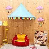 Betthimmel, OUTAD Regenbogen Kinder Betthimmel, Kinder Prinzessin Spielzelte Dekoration fürs Kinderzimmer(110x80x62cm)