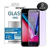 Novago Compatible avec iPhone 6, 6S, iPhone 7, iPhone 8 -Film Protection écran en Verre trempé résistant et Fin avec Effet Filtre de lumière Bleue (x2)