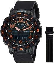 Casio Mens Quartz Watch, Analog-Digital Display and Silicone Strap - PRT-B50FE-3DR