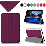 Acer Iconia B1-720 7-inch Case Cover, Fyy Ultra Slim Magnetic Smart Cover Case for Acer Iconia B1-720 7-inch Purple
