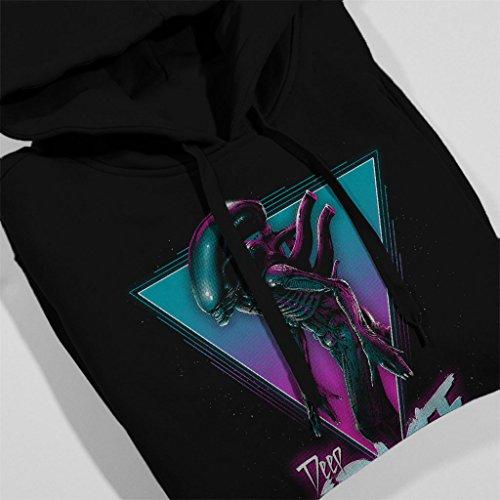 Alien The Space Xenomorph Neon Women's Hooded Sweatshirt Black