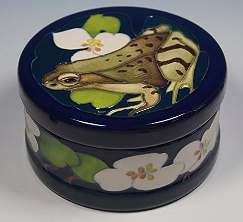 Moorcroft (The Welcome Guest Frog RSPB Motif d'essai avec couvercle Boîte à bijoux Elmer 365