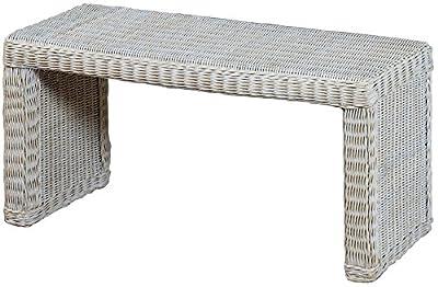 Stabile Sitzbank Flur aus echtem Rattan / Bad-Hocker Sitz-Bank Natur-Rattan / schmales Bett Bänkchen Schlafzimmer von Korb-Outlet auf Gartenmöbel von Du und Dein Garten