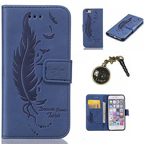 PU Cuir Coque Strass Case Etui Coque étui de portefeuille protection Coque Case Cas Cuir Swag Pour Apple iPhone 6/ iPhone 6S (4.7 pouces)+Bouchons de poussière (8AE) 4