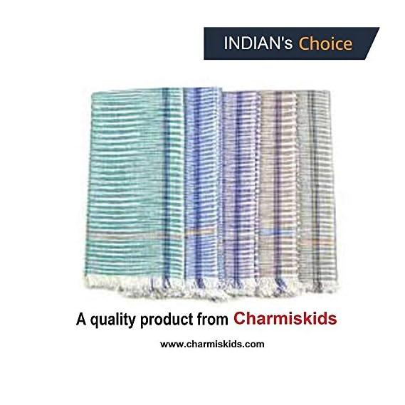 Charmiskids Khadi Gamcha ,Towel 1.75m (Multicolour)