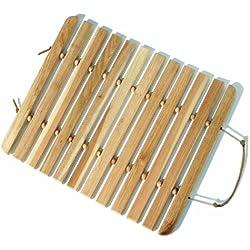 Premier Housewares - Alfombra de baño de tablones (madera de nogal)