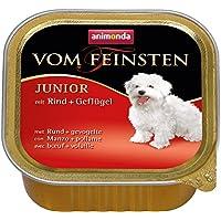 Animonda Feinsten Hundefutter Junior mit Rind + Geflügel, 22er Pack (22 x 150 g)