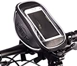 BTR Handlebar Bike Bag Pannier with Mobile Phone Holder with Clear PVC Screen - Water Resistant - Black