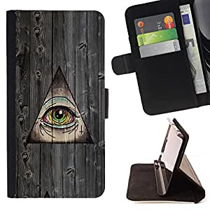 - Dead Eye Wood - Skull Market - Schlag-Mappen-PU-Leder Etui [mit Kartensteckpl?tze & Magnetisches Klappen-Schliessen] Standplatz Fall Abdeckung FOR LG Google Nexus 5 E980 D820 D821