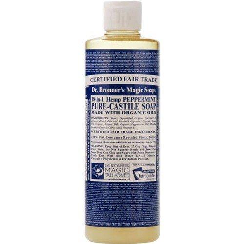 (3 PACK) – Dr Bronner – Peppermint Castile Liquid Soap | 236ml | 3 PACK BUNDLE