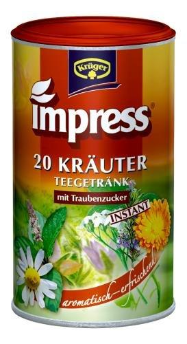 Impress 20 Kräuter Teegetränk Instant, 2er Pack (2 x 200 g Dose) -