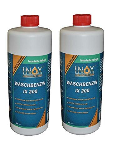 INOX IX 200 Waschbenzin, 2x 1L - Reinigungsbenzin für Textilien und Oberflächen
