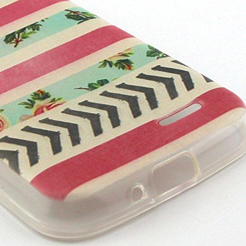 iPhone 4 Silicone Case,iPhone 4S Coque - Felfy Ultra Slim Soft Gel Flexible TPU Case Cover Coque Housse Beaux Motifs Peint Protection Case Cover Etui (Renard Mignon) + 1 x Noir Stylus + 1 x Screen Pro Rose Fleurs Stripes