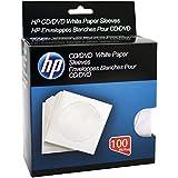 Cd Sleeves, 100 Pack White Paper DVD Cd-r Storage Blank Cd Sleeves